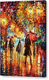 Hesitation Of The Rain Acrylic Print by Leonid Afremov