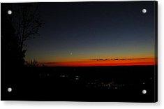 Heublein Sunset 2  Acrylic Print by Stephen Melcher