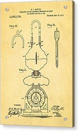 Hewitt Mercury Vapour Lamp Patent Art 1912 Acrylic Print by Ian Monk