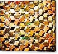 Hexacubes Acrylic Print