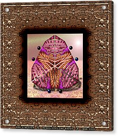 Hexaglyphs One  Acrylic Print by Ann Stretton