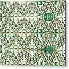 Hexagon And Square Pattern Acrylic Print by Jozef Jankola