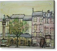 Hexham Market Place Northumberland  England Acrylic Print