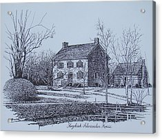 Hezekiah Alexander House Etching Acrylic Print by Charles Roy Smith
