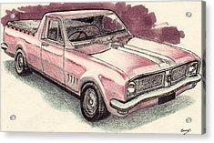 Hg Holden Ute Acrylic Print