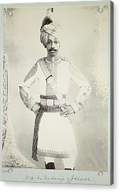 Hh The Maharaja Of Jodhpore Acrylic Print by British Library