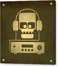 Hi Fi Skull Acrylic Print by Milton Thompson