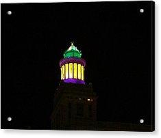 Hibernia Tower - Mardi Gras Acrylic Print