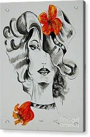 Hibiscus Fashion Acrylic Print