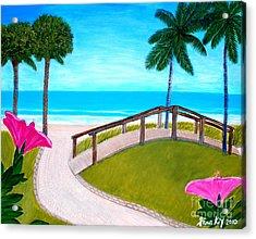 Hibiscus In Paradise Acrylic Print by Oksana Semenchenko