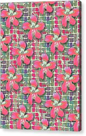 Hibiscus Pink Water Acrylic Print