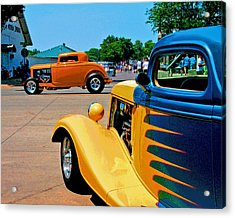 Acrylic Print featuring the photograph Hiboy Over Fender Custom by Christopher McKenzie