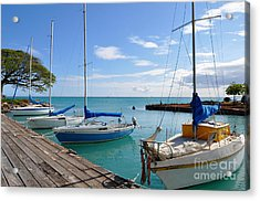 Acrylic Print featuring the photograph Hickam Harbor by Gina Savage