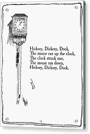 Hickory, Dickory, Dock Acrylic Print