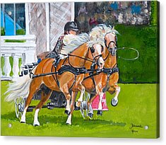 Acrylic Print featuring the painting Hickstead  by Janina  Suuronen