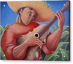 Hidalgo Campesino Acrylic Print by Oscar Ortiz