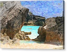Hidden Beach Acrylic Print