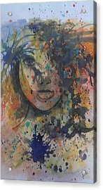 Hidden Beauty 3. Acrylic Print by Judi Goodwin