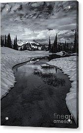 Hidden Beneath The Clouds Acrylic Print by Mike  Dawson