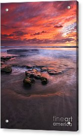 Hidden By The Tides Acrylic Print by Mike  Dawson