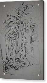 Hidden Faces Acrylic Print by Moshfegh Rakhsha