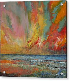 Hidden Heart Lava Sky Acrylic Print by Michael Creese