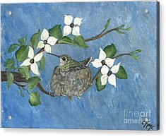 Acrylic Print featuring the painting Hidden Jewel by Ella Kaye Dickey