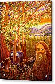 Hidden Mountain Man Acrylic Print