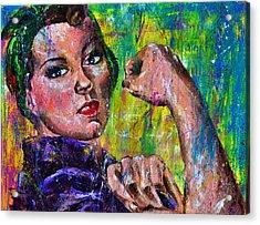 Hidden Strength Acrylic Print by Connie Mobley Medina