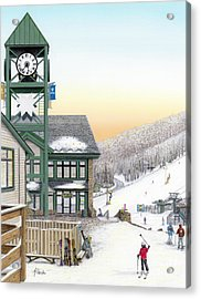 Hidden Valley Ski Resort Acrylic Print by Albert Puskaric