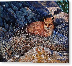 Acrylic Print featuring the painting Hide And Seek by Craig T Burgwardt