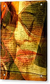Hiding From The News Acrylic Print by Michael Cinnamond