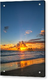 Hiding Sunset Acrylic Print