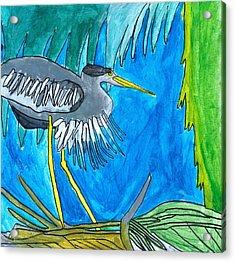 Hidingbird Acrylic Print