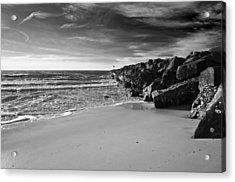 Higbee Beach B/w Acrylic Print by Jennifer Ancker