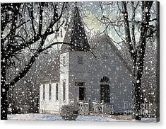 Higgensville Church Acrylic Print by Liane Wright