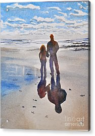 Higgins Beach Acrylic Print by Andrea Timm