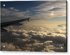 Acrylic Print featuring the photograph High Above The Clouds by Inge Riis McDonald