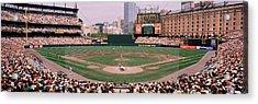 High Angle View Of A Baseball Field Acrylic Print