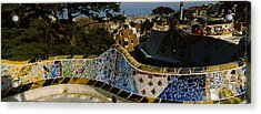 High Angle View Of A City, Parc Guell Acrylic Print by Panoramic Images