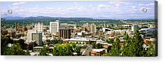 High Angle View Of A City, Spokane Acrylic Print by Panoramic Images