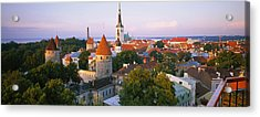 High Angle View Of A City, Tallinn Acrylic Print by Panoramic Images