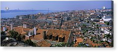 High Angle View Of A City Viewed Acrylic Print by Panoramic Images