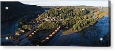 High Angle View Of A Town, Harpers Acrylic Print by Panoramic Images