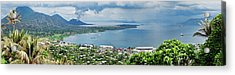 High Angle View Of A Town On The Coast Acrylic Print by Panoramic Images