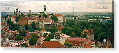 High Angle View Of A Townscape, Old Acrylic Print by Panoramic Images