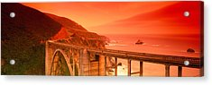 High Angle View Of An Arch Bridge Acrylic Print by Panoramic Images