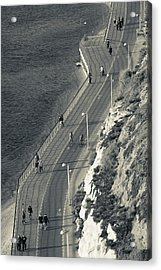 High Angle View Of Beach Front Acrylic Print
