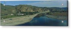 High Angle View Of Columbia River Acrylic Print