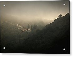 High Angle View Of Cosquin On Foggy Day Acrylic Print by Andres Ruffo / EyeEm